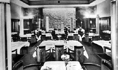 SS Normandie First Class Dining Room